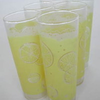 Vintage Lemon Print Glasses $45
