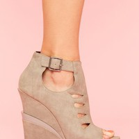Garcelle Cutout Wedge - Gray