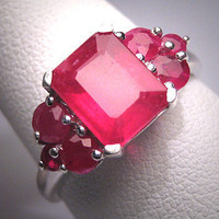 Vintage Ruby Wedding Ring Art Deco Engagement Estate