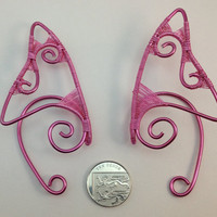 Elf Ear Tips - Pretty in Pink - Ear Extensions - Ear Cuffs
