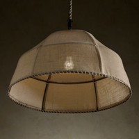 Burlap Dome Pendant | Pendants | Restoration Hardware