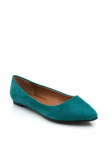 suede-ballet-flats DKTEAL OCEAN - GoJane.com