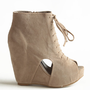 Dimensional Cutout Boots - $49.00: ThreadSence, Women's Indie & Bohemian Clothing, Dresses, & Accessories