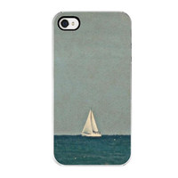 Smooth Sailing iPhone Case - Decorative Cover, Beach, Sailboat, Summer Time, Summer Trends, Ocean, Blue, Waves