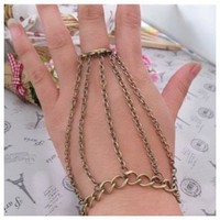 Antique Chain Bracelet Ring