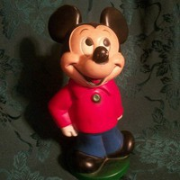 "1950's MICKEY MOUSE 11"" Coin Bank, A Disney Collectable"