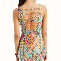 tribal-body-con-bustier-dress TEALORANGE - GoJane.com
