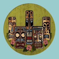 Tiki Party II Wall Clock from Zazzle.com