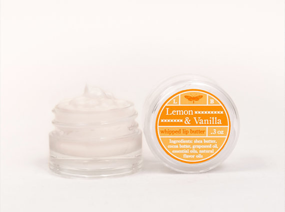 Whipped Lip Butter - Lemon &amp; Vanilla - Natural Icing for Your Lips