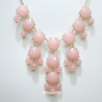 Free Shipping &amp; Gift Wrapping, Bubble Necklace, Bubble Statement Necklace, Pink Bubble Necklace, J Crew Inspired, Pink,