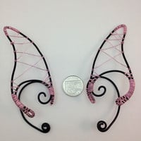  bLacK &amp; piNk eLf eaRs  eLf  FaEry cHiC  LaRp  hANdcRafTEd 4 FaiRiEs 