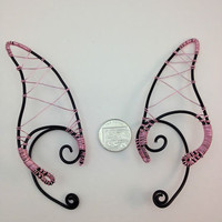 ❤ bLacK & piNk eLf eaRs ❤ eLf ❤ FaEry cHiC ❤ LaRp ❤ hANdcRafTEd 4 FaiRiEs ❤
