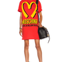 Special Edition Capsule I'm Loving It Oversized Cotton Jersey Tee in Red & Yellow