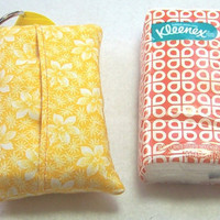 Tissue Holder, Tissue Cozy, Yellow Floral