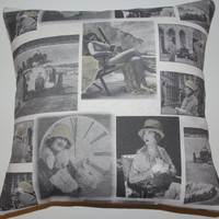 SALE Old Times Hollywood Movie Design Pillow Cushion Cover