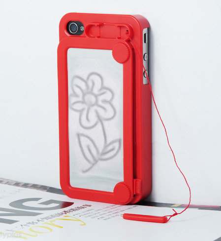 Retro Style Magic Drawing broad iphone case Cover For iPhone 4/ 4S Red