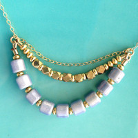Illuminating Triple Layer Necklace