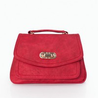 Structured Turn Lock Purse - ShopSosie.com