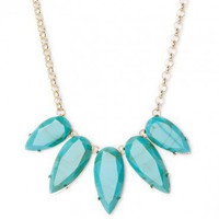Turquoise Teardrop Necklace - ShopSosie.com