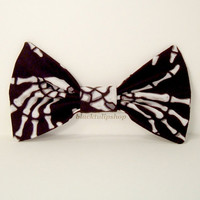 HALLOWEEN Hair Bow/Clip Skeleton Bone Hands Black White