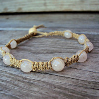 Beaded Hemp Anklet Opaque Beads Macrame For Women