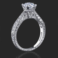 Engagement Rings -  .35 ctw. 14K Gold Diamond Engagement Ring