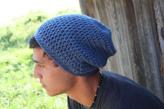 Free Crochet Pattern For Mens Slouchy Beanie : Mens Beanie, Slouch Beanie, Crochet - from ...