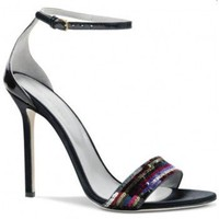 Sergio Rossi Profile satin sandals $256,