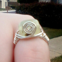 Wild Ivy Design | Prehinite Spiral Ring size 8 | Online Store Powered by Storenvy