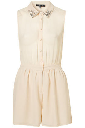 Petite Collared Playsuit