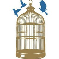 Wall Decals Cage- WALLTAT.com Art Without Boundaries