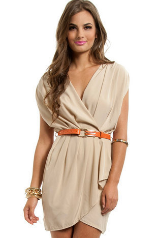 New Colors on the Block Belted Dress