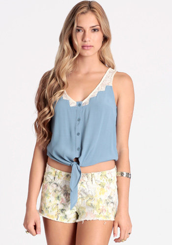 Steppin Up Tie Top - $40.00: ThreadSence, Women's Indie & Bohemian Clothing, Dresses, & Accessories