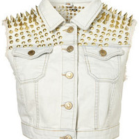 MOTO Premium Extreme Spike Sleeveless Jacket - Jackets & Coats  - Apparel