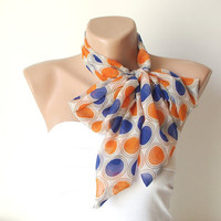 Womens Dotted Bow Tie, Headband, Sash or Hair Wrap