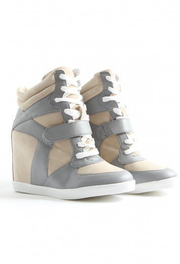 Missguided - Allexa Wedge Hi Top Trainers