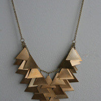 Laura Lombardi Triangle Cascade Necklace
