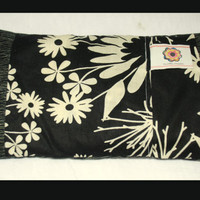 Therapeutic Rice Bag and Cover Stylish Flowers Balck Beiges