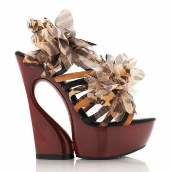 strappy-flower-design-platform BLACK CAMEL WHITE - GoJane.com