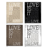 1 Corinthians 13: LOVE, Inspirational Quote, Art for Print, Subway Art.