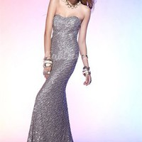 Cute Mermaid Sweetheart Floor Length Sequin Evening Dress-$138.97-ReliableTrustStore.com
