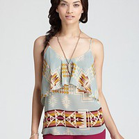 Aqua Cami - Tribal Blanket New Tiered | Bloomingdale's