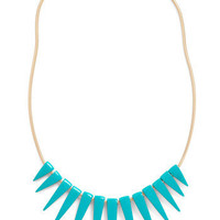 Spike an Interest Necklace in Teal | Mod Retro Vintage Necklaces | ModCloth.com