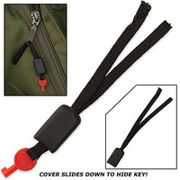 Handcuff Key Lock Pick - Disguised as Zipper Pull