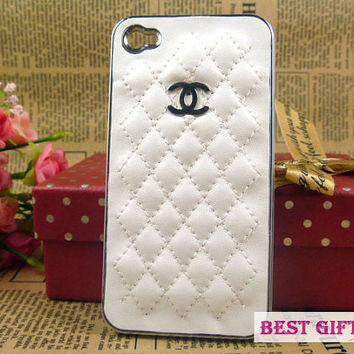 iPhone 4/4sCase Chanel logo iPhone Case Leather iPhone 4 Case, iphone covers cases for iphone 4