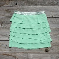 Hilltop Ruffle Skirt, Women's Affordable Clothing