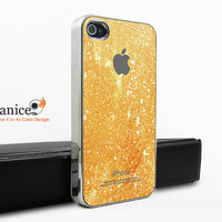 silvery  unique Iphone case iphone 4 case iphone 4s case iphone 4 cover yellow wall texture  colors iphone case design