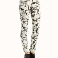 skinny-printed-jeggings BLACKIVORY - GoJane.com