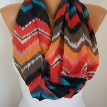 Infinity Scarf Shawl Circle Scarf  Loop Scarf Summer Scarf Gift -fatwoman