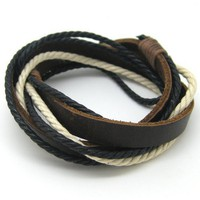 Bangle leather bracelet buckle bracelet ropes bracelet women bracelet men bracelet made of leather and ropes cuff 1SZ-LH-010
